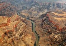 De rivier van Colorado en grote canion Stock Foto