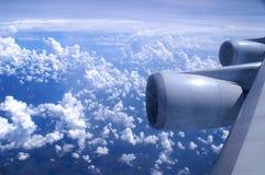 Een luchtmening van een vliegtuig Royalty-vrije Stock Afbeelding
