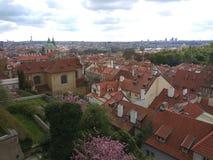 Een luchtmening van oude roman stad royalty-vrije stock afbeeldingen