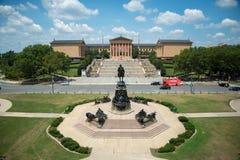 Een luchtmening van Philadelphia Art Museum stock foto's