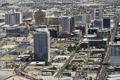 Een luchtMening van Van de binnenstad, Las Vegas Royalty-vrije Stock Afbeelding