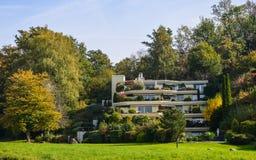 Een luxehuis in Luzerne, Zwitserland royalty-vrije stock afbeeldingen