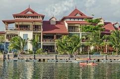 Een luxehuis op de kust van Eden-eiland Royalty-vrije Stock Afbeeldingen