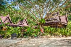 Een luxueuze toevlucht in Phi Phi Island, een tropisch eiland van Thailand Royalty-vrije Stock Afbeelding