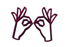 Een magisch gebaar vector illustratie