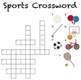 Een malplaatje van het sportkruiswoordraadsel stock illustratie