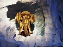 Een Mammoet in het Pretpark Stock Afbeeldingen