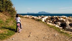 Een manier aan Capri-eiland stock foto's