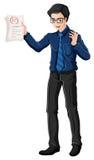 Een mannelijke leraar stock illustratie