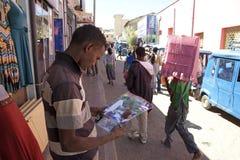 Een marktstad Ethiopië Stock Afbeelding