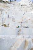 Een marmeren steengroeve van Carrara Royalty-vrije Stock Afbeeldingen