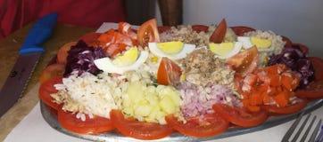Een Marokkaanse salade met goede gastvrijheid stock foto's