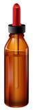 Een medische fles met een druppelbuisje vector illustratie