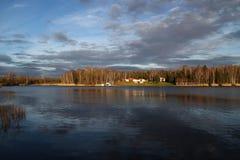 Een meer in de winter Royalty-vrije Stock Foto