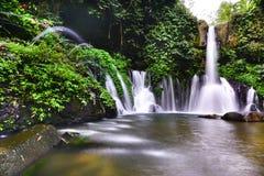 Een meer met watervallen Stock Fotografie