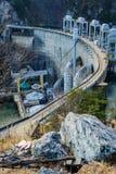 Een Meerweergeven van Smith Mountain Hydroelectric Dam Lake royalty-vrije stock foto