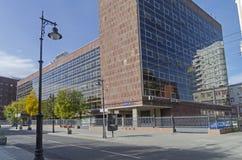Een meesterwerk van modernist architectuur en een typisch voorbeeld van Stock Afbeelding