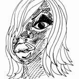 Een meisje vector illustratie
