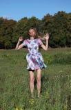 Een meisje bij haar dertig Royalty-vrije Stock Foto