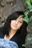 Een meisje in de tuin Royalty-vrije Stock Afbeelding