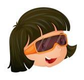 Een meisje die een oogglas dragen royalty-vrije illustratie