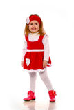 Een meisje in een gebreide kleding Royalty-vrije Stock Afbeelding
