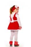 Een meisje in een gebreide kleding Royalty-vrije Stock Foto