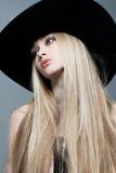 Een meisje in een hoed Royalty-vrije Stock Afbeelding