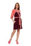 Een meisje in een roze badjas Royalty-vrije Stock Foto
