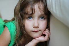 Portret van een gedeprimeerd meisje Stock Afbeelding