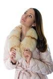Een meisje in een warm jasje Stock Afbeelding