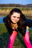 Een meisje stelt royalty-vrije stock foto