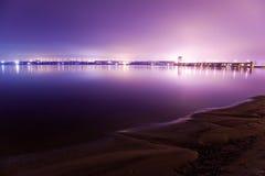 Een mening aan de Hydro-elektrische Post van Dnieper Royalty-vrije Stock Afbeeldingen