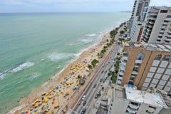 Een mening aan het Recife-stadsstrand Royalty-vrije Stock Afbeelding