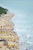 Een mening aan het Recife-stadsstrand Stock Afbeelding
