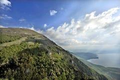 Een mening aan meer Ohrid Royalty-vrije Stock Afbeeldingen