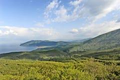 Een mening aan meer Ohrid Royalty-vrije Stock Foto's