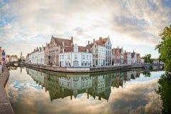 Een mening in Brugges stock foto