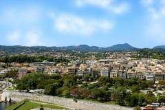 Een mening die de oude stad overzien Panorama van de oude stad Royalty-vrije Stock Fotografie