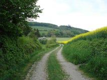 Een mening met een mooi panorama in Luxemburg Stock Foto's