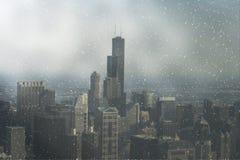 Een mening over Chicago van de binnenstad Stock Foto's