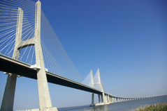Een mening over de brug Stock Foto