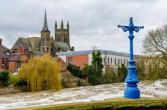 Een mening over de Kanalen van Birmingham royalty-vrije stock afbeelding