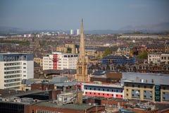 Een mening over Glasgow City Centre van 17 vloeren boven Bothwell-Straat Royalty-vrije Stock Foto's