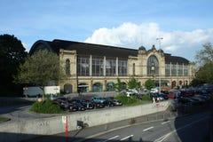 Een mening over het station van Hamburg Stock Afbeeldingen