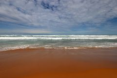 Een mening over oceann, Grote Oceaanweg in Victoria, Australië Stock Foto