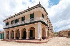 Een mening van één van thebuildings in Trinidad, Cuba Royalty-vrije Stock Foto