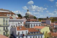 Een mening van Alfama, Lissabon royalty-vrije stock afbeelding
