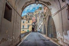 Een mening van Amalfi straten in Italië stock foto