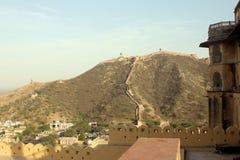 Een mening van Amer Fort stock foto